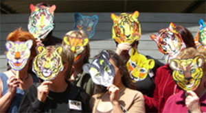 Animazonia Team Wearing Cat Masks